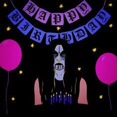 makin birthday cards on my birthday!  any excuse to draw #blackmetallersdoingnormalthings  #art #design #blackmetal #birthday #party
