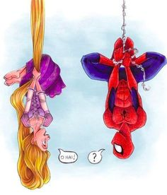 Two of my favorite things! Spiderman and princesses!
