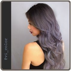 Grayish blue and silver Midnight Storm Bombre Ombre by Victoria