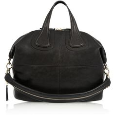 Givenchy Medium Nightingale bag in black leather (14 190 SEK) ❤ liked on Polyvore featuring bags, handbags, black, totes, leather tote, leather handbags, black tote handbag, leather man bag and black handbags