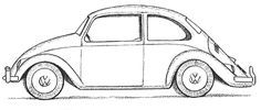vintage volkswagen beetle coloring pages | Step finished bw volks beetle How to Draw a Volkswagen Beetle Punch ...
