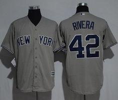 Yankees #42 Mariano Rivera Grey New Cool Base Stitched MLB Jersey