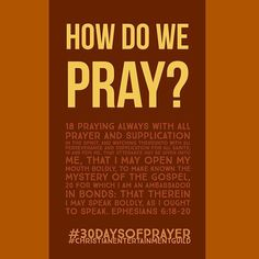 We need to bring God into our daily, hourly and even minute by minutes conversation. We learn from PAUL about how to pray prayers that work. #1 - PRAY FREQUENTLY. We have friends we talk with on a regular basis. These friends influence our way of thinking as well as our decisions. We need to bring God into our conversation so He is the first person we talk to, the first person whose advice we seek. God can bring us peace even when we share our frustrations with Him. Our prayer today: lord…