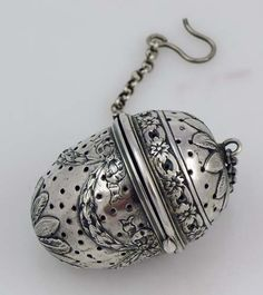 sterling acorn tea ball with swags Tea Strainer, Tea Infuser, Coffee Time, Tea Time, Acorn And Oak, Little Acorns, Tea Accessories, Tea Roses, Cup And Saucer