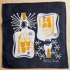 Tammis Keefe handkerchief. Ships in bottles.
