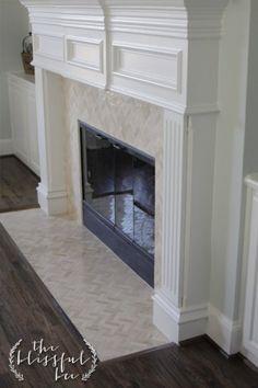 Fireplace Mantel and Tile Face #design #renovation #NashvilleRealEstate #NealClaytonRealtors www.nealclayton.com