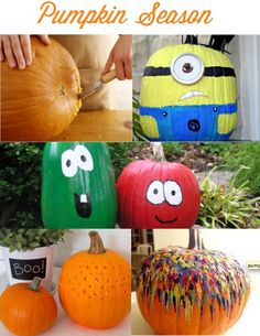 Pinning simply because there is a minion pumpkin. Also Bob and Larry pumpkins. And that is just awesome.