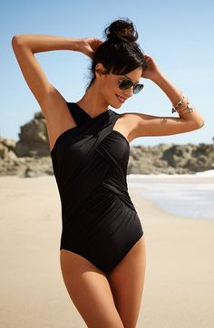 Miraclesuit® Crisscross Underwire One-Piece Swimsuit | Nordstrom. - Same suit, different model.