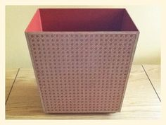 SALE Vintage Faux Caning Wastebasket Home Office Trash Can Mid Century Decor