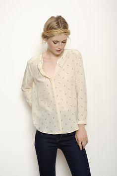 Blouse Kabati ecru 100% soie - chemise Femme - Des Petits Hauts Chemisier,  Chemise 44b843b62f3
