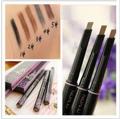 New automatic eyebrow pencil makeup paint for eyebrows brushes cosmetics brow eye liner tools brow pencil( = 1668694020 - Small Magazine Eyebrow Brush, Eyebrow Pencil, Makeup Brush Set, Brown Eye Makeup Tutorial, Makeup For Brown Eyes, Eyeliner, Eyebrows, Models Makeup, Makeup Essentials