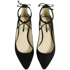 10af9400467e69 New With Tags Zara Black Lace Up Ballet Flats Sz 9 Flat Black Shoes Pointed  Lace Up Detail Bow Closure At Ankle Polyurethane Sold Out!
