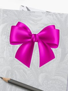 """""""Pink Bow on the Back"""" Sticker by Drugaya Sell Your Art, Sticker Design, Bows, It Is Finished, Stickers, Prints, Collection, Arches, Bowties"""