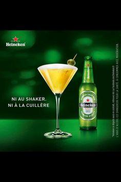 """""""shaken, not stirred"""" Bond Heineken"""