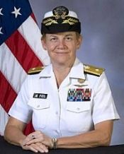 In June 2010, Rear Admiral Nora Tyson became the first female to command a carrier strike group.