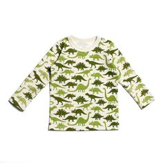 Long-Sleeve Tee - Dinosarus Green