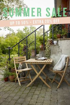 Extra off all sale items including Skagerak's Selandia outdoor table and chair until 30 July Outdoor Tables And Chairs, Outdoor Dining, Outdoor Furniture Sets, Outdoor Decor, Nordic Design, Scandinavian Design, 30 July, Nordic Living, Scandinavian Furniture
