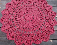 Wine+Red+or+Plum+Patio+Porch+Cord+Crochet+Rug+by+byCamilleDesigns,+$80.00