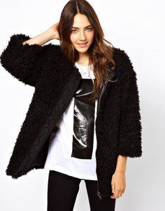 B+AB Reversable Faux Fur Jacket