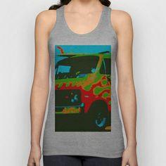 Surf Wagon Unisex Tank Top by James Eye - $22.00