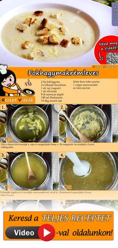 Creamy garlic soup recipe with video. Detailed steps on how to prepare this easy and simple Creamy garlic soup! Cream Soup Recipes, Easy Soup Recipes, Cooking Recipes, Foil Pack Meals, Cooking Cream, Garlic Soup, Healthy Snacks, Healthy Recipes, Hungarian Recipes
