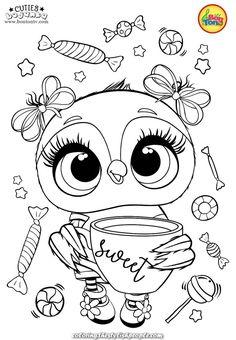 Cuties Coloring Pages for Kids - Free Preschool Printables - Slatkice Bojanke - Cute Animal Coloring Books by BonTon TV Free Kids Coloring Pages, Free Printable Coloring Sheets, Preschool Coloring Pages, Coloring Sheets For Kids, Disney Coloring Pages, Coloring Pages To Print, Coloring Book Pages, Desenho Kids, Free Preschool