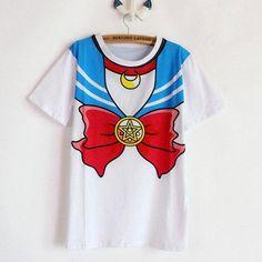Keelorn 2016 new Hot Sailor moon harajuku t shirt women cosplay costume top kawaii fake sailor t shirts girl new Kawaii Cosplay, Cute Cosplay, Cosplay Costumes, Estilo Harajuku, Cosplay Mignon, Cosplay Lindo, Jumper, Kawaii Shirts, Sailor Moon Cosplay
