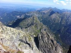 the Rysy peak (2499m) - the Polish side, picture taken from the Slovak Rysy