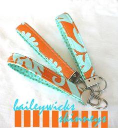 Wrist Key Chain  Key Fob  Wristlet  keychain Key by Baileywicks, $5.75