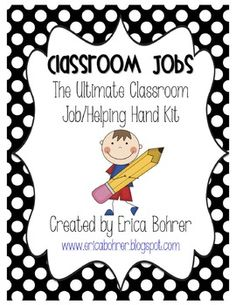 "Kids love to feel important and help their teacher. I keep a smooth running classroom by assigning each student a classroom job. I call them my ""Helping Hands. Classroom Jobs, First Grade Classroom, Future Classroom, Classroom Decor, Classroom Management, Teaching Career, Primary Teaching, Teaching Resources, Teaching Ideas"