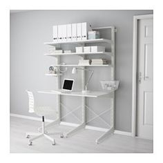 IKEA - ALGOT, Post/foot/shelves, The parts in the ALGOT series can be combined in many different ways and so can easily be adapted to needs and space.Can also be used in bathrooms and other damp areas indoors.You click the brackets into the ALGOT wall uprights wherever you want to have a shelf or accessory – no tools needed.
