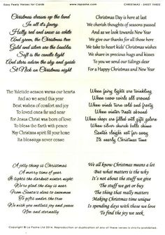 La Pashe Easy Peely Verses for Cards - Christmas Christmas Card Verses, Christmas Card Messages, Unique Christmas Cards, Christmas Sentiments, Tacky Christmas, Christmas Quotes, Christmas Greeting Cards, Christmas Greetings, Christmas Decor