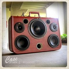 Handmade 1 of a kind  Suitcase Speaker by by CaseStudyAcoustics, $1295.00