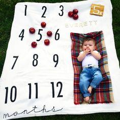 Milestone Blanket! Etsy shop (BATZkids)