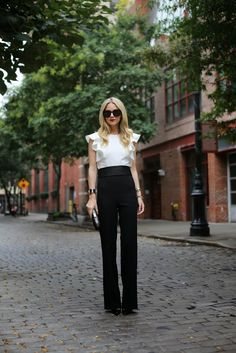 Jumpsuit: ASOS. Shoes: Christian Louboutin. Sunglasses: Karen Walker 'Super Duper'. Clutch: Anya Hindmarch. Bow Belt: Milly NY. Lips: Stila 'Beso'. Jewelry: Cartier, Hermes, David Yurman, Pomellato, Brandy Pham.