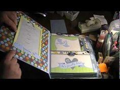 Kathy Orta Inspired Retro-Fit Mini Album, MAMBI Baby Boy Paper