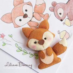 Raposinha - cute felt fox