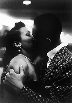 by George S. Zimbel - A Late Night Kiss, Harlem, New York, 1951
