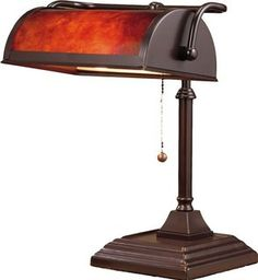 Normande Lighting BL1-103 60-Watt Banker's Lamp with Plastic Shade