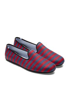 charles philip shanghai x striped loafers
