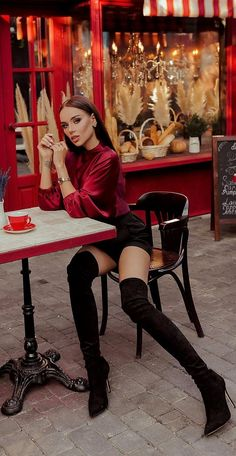 Tumblr, Pretty Girls, Heeled Boots, Legs, Corner Cafe, Coffee Drinkers, Beauty, Shoes, Fashion