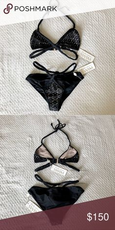 1045f451ff8aa8 For Love and Lemons Black Bikini Swim Set Brand new with tags. Liner  attached.