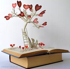 Malena Valcarcel Book art Sculptures
