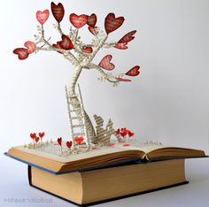 The Tree of Love Book Art Book Sculpture by MalenaValcarcel