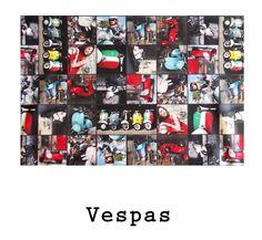 tela resinada Vespas disponible para combinar con los productos Arethaju