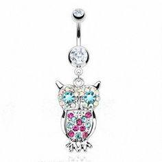 Bauchnabel Piercing Banane Color Owl - Clear von KULTPIERCING, http://www.amazon.de/gp/product/B00BUITVNI/ref=cm_sw_r_pi_alp_doTqrb0PEY50N