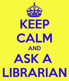 Keep Calm...Librarian in the House
