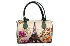 Paris Eiffel Tower Purse for Women, Summer Purse, Women Fashion Purse, Barrel Purse with Top Handles, Shoulder Purse for Women, 5041 by MyBrightBag on Etsy