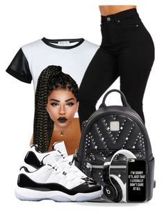 """""""#blackandwhite"""" by christi-23 ❤ liked on Polyvore featuring MCM, Beats by Dr. Dre and Casetify"""