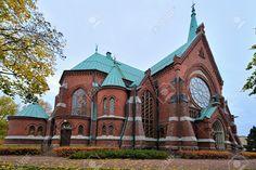 Iglesia en ladrillo rojo. Kotka. Finlandia